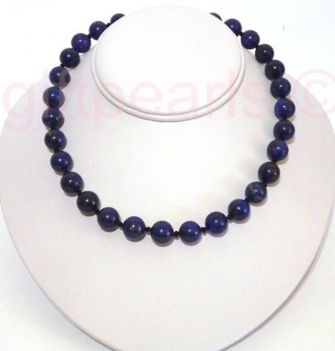 Lapis Lazuli necklace of 9-10 mm beads on an 18inch necklace.